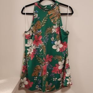 Beautiful Bright Floral Halter Top